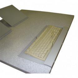 Tablette clavier intégrée au plateau