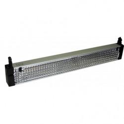 Eclairage supérieur indirect avec grille de défilement chromée