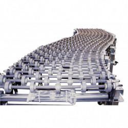 Convoyage extensible à galets plastique largeur 400 mm