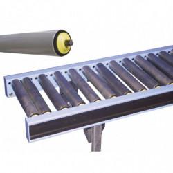Convoyage gravitaire à rouleaux libres PVC largeur 850 mm