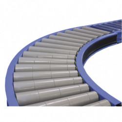 Courbe à rouleaux libres Ø 50 mm largeur 450 mm