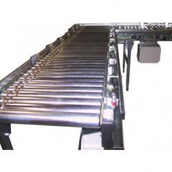 Convoyeur motorisé largeur 850 mm avec entraînement par courroies toriques