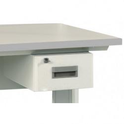 Bloc suspendu 1 tiroir - Dimensions utiles : L 255 x P 400 x H 120 mm