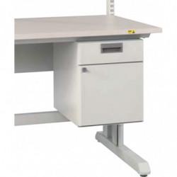 Bloc suspendu 1 tiroir et une porte - Dimensions utiles : L 302 x P 405 x H 70 et L 320 x P 405 x H 330 mm