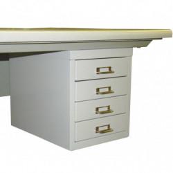 Bloc suspendu 4 tiroirs - Dimensions utiles : L 235 x P 378 x H 64 mm