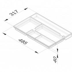 Aménagement de tiroir fixe L 317 x P 485 x H 40 mm