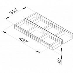 Aménagement de tiroir réglable L 317 x P 487 x H 40 mm