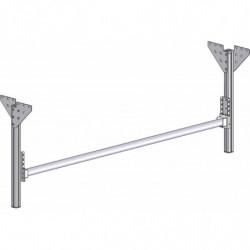 Support rouleau sous plateau sur montants aluminium
