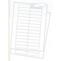 Fiche étiquettes pour porte-étiquette magnétique
