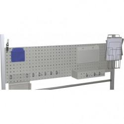 Panneau perforé H 400 mm pour fixation sur profilés aluminium