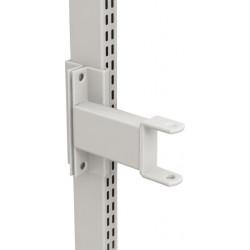 Bras acier support pour décalage bras articulé avec fixations pour montants perforés