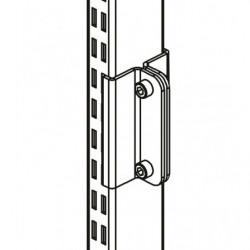 Adaptateur d'accessoires de la gamme profilés aluminium sur montant perforé