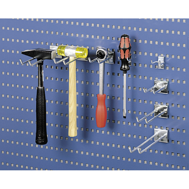 Crochet pour suspension d'outil sur panneau perforé