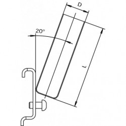 Dimensions crochet tube pour panneau perforé