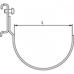 Dimensions crochet support outil électro-portatif pour panneau perforé