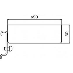Dimensions support pipette ou bouteille suspendue pour panneau perforé