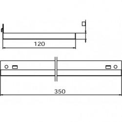 Dimensions tablette pour panneau perforé