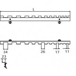 Dimensions crochet de suspension 12 clés pour panneau perforé