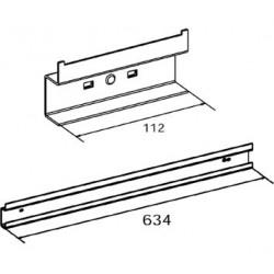 Dimensions support pour accrocher un bac à bec sur panneau perforé