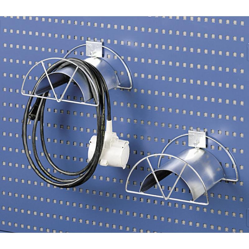 Support câble pour panneau perforé