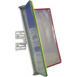 Support inclinable à fixer au mur et volets pour fiches de poste