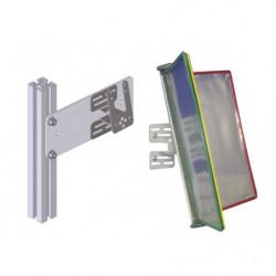 Support à fixer sur profilé aluminium et volets pour fiches de poste