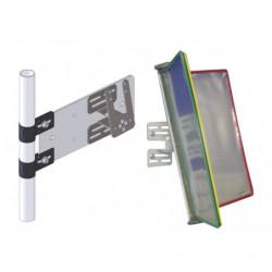Support à fixer sur tube et volets pour fiches de poste