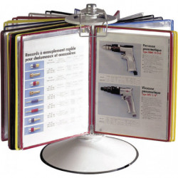 Support à poser pour une consultation panoramique des volets fiches de poste