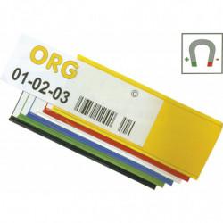 Long porte-étiquette magnétique