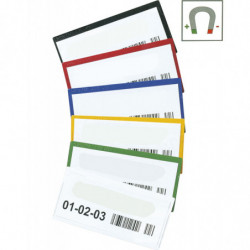 Porte-étiquette couleur magnétique à ouverture supérieure