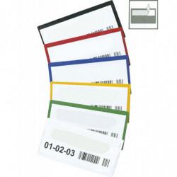Porte-étiquette couleur autocollant à ouverture supérieure