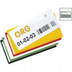 Porte-étiquette couleur autocollant à ouverture supérieure et latérale