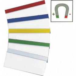 Porte-étiquette bordure couleur magnétique