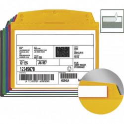Pochette couleur porte-étiquette autocollante