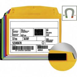 Pochette couleur porte-étiquette magnétique
