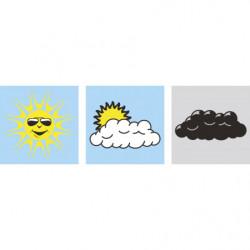 Symbole météo magnétique