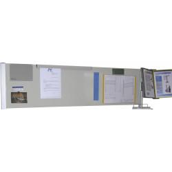 Panneau plein métallique H 400 mm pour fixation sur profilés aluminium