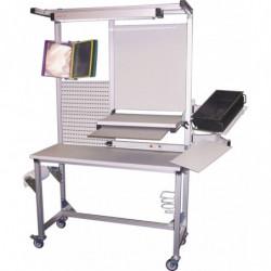 Tableau pour écriture au feutre délébile H 1000 mm avec fixations sur profilés aluminium