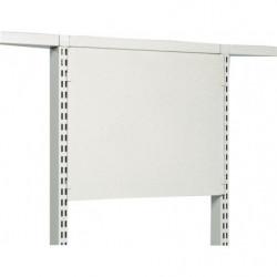 Panneau plein métallique H 400 mm pour fixation sur montants perforés