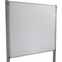 Tableau pour écriture au feutre délébile H 400 mm pour fixation sur montants perforés