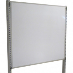 Tableau pour écriture au feutre délébile H 1000 mm pour fixation sur montants perforés