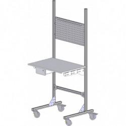 Poste de contrôle qualité modulaire avec structure aluminium