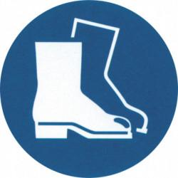 """Pictogramme """"Port de chaussures de sécurité obligatoire"""""""