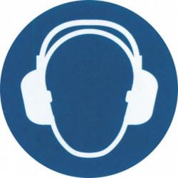 """Pictogramme """"Port de casque anti-bruit obligatoire"""""""