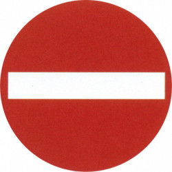 "Pictogramme ""Passage interdit"""