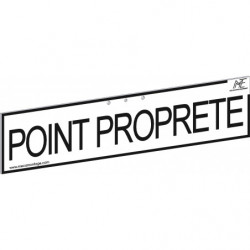 "Bandeau signalétique ""POINT PROPRETE"""