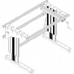 Poste de travail ergonomique hauteur ajustable - Structure à manivelle sans cadre