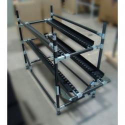 Porte-rails à galets à butée basse