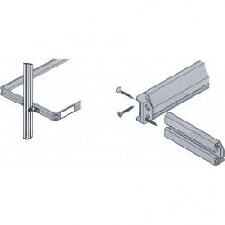 Tablette réglable avec cadre en profilés aluminium