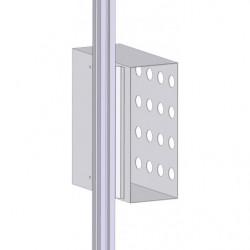 Casier à dossiers vertical pour fixation sur profilé aluminium